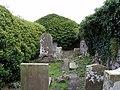 Gravestones inside St Columba's Chapel - geograph.org.uk - 1540611.jpg