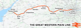 Great Western main line - Image: Great Western Main Line map