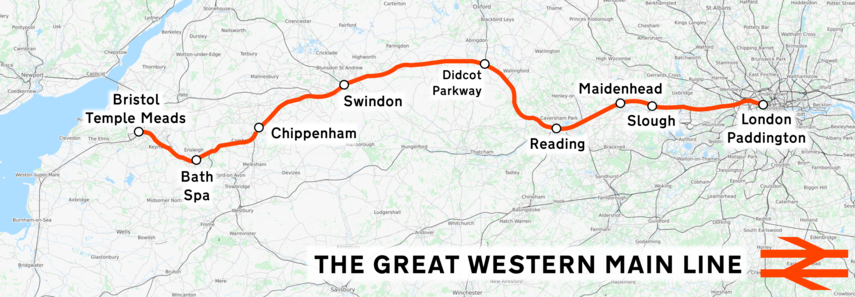 Great Western Main Line map