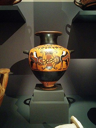 Archaeological Museum of Thessaloniki - Image: Greek red figure pottery, Thermi, 4th century B.C., Archaeological Museum of Thessaloniki