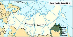 Green Ukraine - Zeleny Klyn on the map of Russia