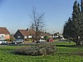 Green at top of Lakenheath at junction with Chase Road, Gerrards Close maisonettes in the background. - geograph.org.uk - 333235.jpg