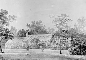 David Hosack - Greenhouse on Hosack's estate in Hyde Park