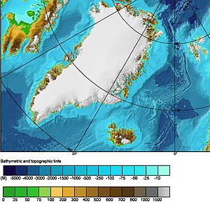 Greenland Sea - Sea topography