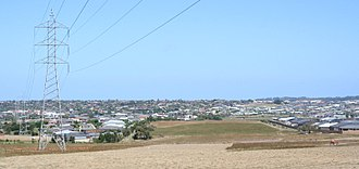 Grovedale, Victoria - Looking south towards Grovedale from Highton