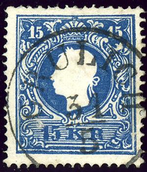 Králíky - Austrian KK stamp, cancelled around 1859 GRULICH