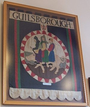 Guilsborough - Tapestry in the village hall, created by the Women's Institute