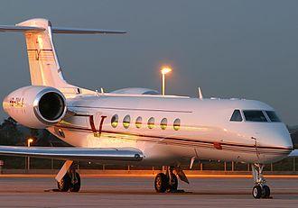 Gulfstream V - On ramp, Gulfstream V fuselage with six windows