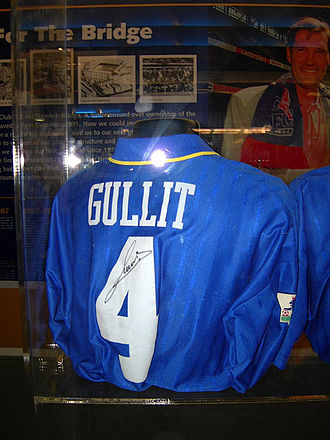 Ruud Gullit - Gullit's No.4 Chelsea shirt, on display at the club museum