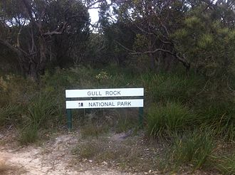 Gull Rock National Park - Signage at entry to park
