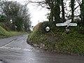 Gussage All Saints, signpost and mirror at Amen Corner - geograph.org.uk - 1064560.jpg