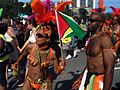 Guyana flag at Caribana parade, Toronto.jpg
