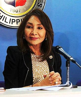 Gwendolyn Garcia - Garcia in 2018, addressing a press briefing of the House of Representatives