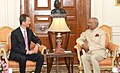 H.S.H. Prince Alois of Liechtenstein calling on the President, Shri Ram Nath Kovind, at Rashtrapati Bhavan, in New Delhi on October 12, 2018.JPG