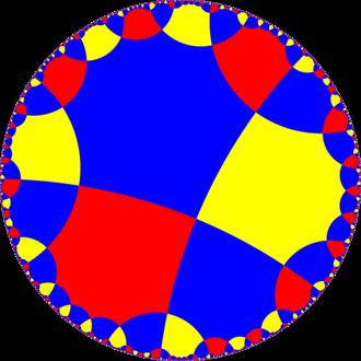 Order-4 octagonal tiling - Image: H2 tiling 488 5