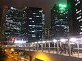 HK Admiralty footbridge 03 night 添美道天橋 Tim Mei Avenue Feb-2012.jpg