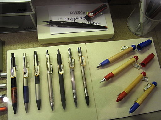 HK Causeway Bay Hysan Place Eslite Bookstore LAMY China pens writing tools Aug-2012