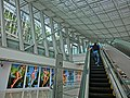 HK Central IFC mall interior ceiling n Escalators visitors May 2013.JPG