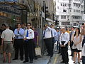 HK SW 119 Queen's Road West Kiu Fat Building Parkn Shop Grand Opening Aug-2012 visitors.JPG