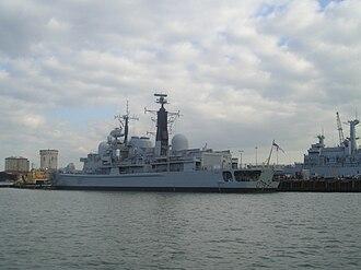HMS Edinburgh (D97) - Edinburgh, Portsmouth, 2004.