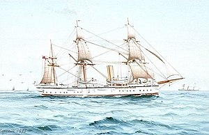 Gaetano Esposito - Watercolor of the HMS Melita by Esposito