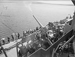 HMS Rodney 4.7-inch AA gun firing 1940 IWM A 85.jpg
