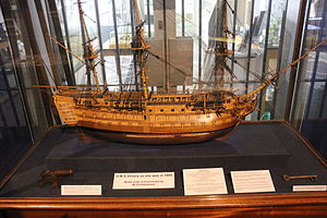HMS Victory model at Monmouth Museum, Wales.JPG
