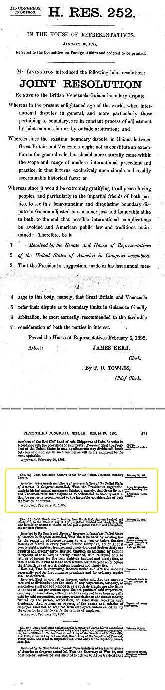 William Lindsay Scruggs - House Resolution 252
