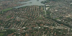 Haberfield, New South Wales - Aerial photograph of Haberfield
