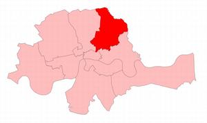 Hackney (UK Parliament constituency) - Hackney in the Metropolitan area from 1868 to 1885.