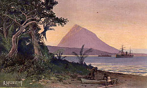 German Samoa - Saluafata harbor (R. Hellgrewe, 1908), c. 10 miles east of Apia