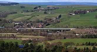 Haltwhistle A69 Bridge, East - Haltwhistle A69 Bridge, East