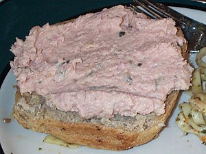Ham salad - Ham salad spread on wheat bread