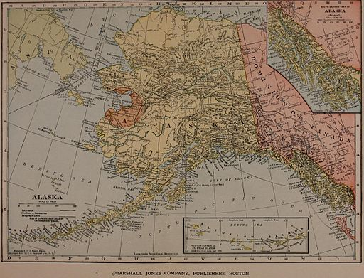 Hammond's 8x11 map of Alaska 1910