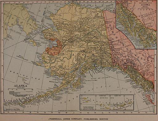 1910 Map of Alaska