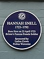 Hannah Snell 1723-1792 Born here on 23 April 1723 Britain's famous female soldier.jpg