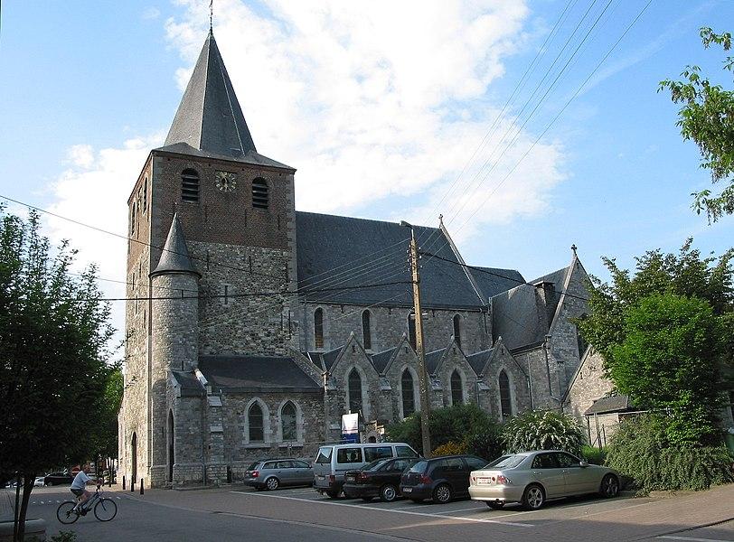 Hannut,  the church of Saint Christopher (XV - XVIIIth centuries).