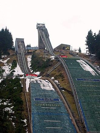 Kanzlersgrund (ski jump hills) - Image: Hans Renner Schanze Oberhof Schanzenanlage