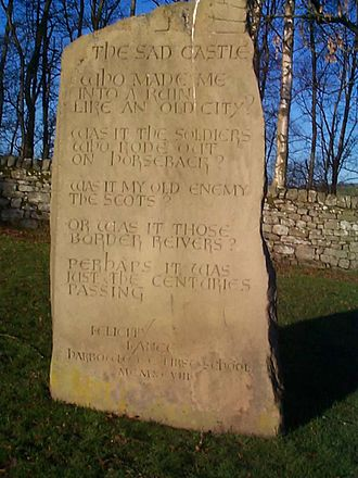 Harbottle Castle - A child's poem about the castle set in stone