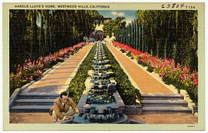 Harold Lloyd Estate - Cascading fountains on the estate.