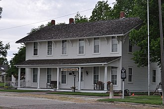 Florence, Kansas - Harvey House restaurant and hotel museum in Florence (2016)