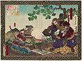 Hashiba Chikuzen no Kami Hideyoshi and Kuroda Yoshitaka by Toyonobu.jpg