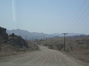 Montagne al confine con l'Oman
