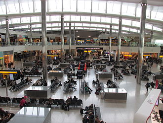 Heathrow Airport - Terminal 2 central departures area