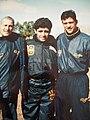Heber Mastrangelo-Diego Maradona-Fabian Bazan.jpg