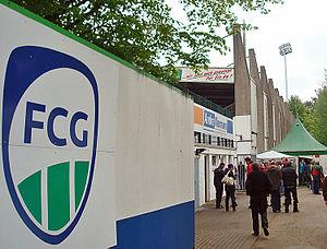 Heidewaldstadion - Image: Heidewald rueckseite