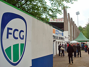 FC Gütersloh 2000 - Image: Heidewald rueckseite