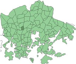 Position of Metsälä within Helsinki