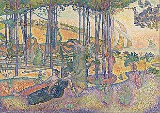 Neo-impressionism - Henri-Edmond Cross, The Evening Air (l'Air du soir), c.1893, oil on canvas, 116 x 164 cm, Musée d'Orsay, Paris