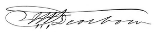 Henry Alexander Scammell Dearborn - Image: Henry A. S. Dearborn signature